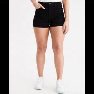 American Eagle,women's black jean shorts.size 8